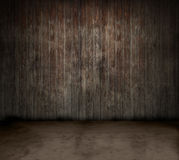 Wooden room. Grungy old empty wooden room vector illustration