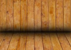 Wooden room background and texture royalty free stock photography