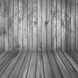 Wooden room. Black and white colours Royalty Free Stock Photos