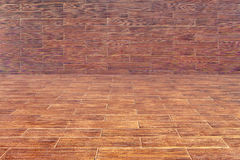 Wooden Room. An empty wooden room as a background Royalty Free Stock Image