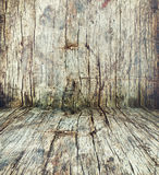 Wooden Room. An empty wooden room as a background Stock Images