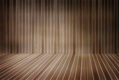 Wooden room interior Stock Photo