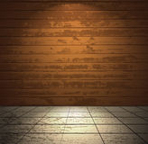 Wooden room with light floor Stock Photography