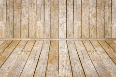 Wooden room, old rustic background Stock Photos