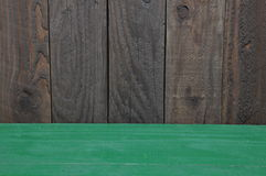 Wooden room stage with green floor Royalty Free Stock Images