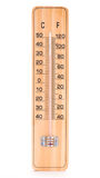 Wooden room thermometer Stock Image