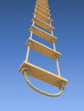 Wooden rope ladder Stock Photos