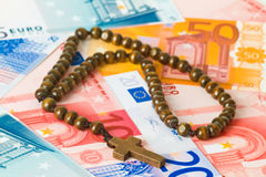 Wooden Rosary Stock Image