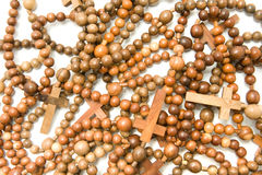 Wooden rosary beads Stock Photography