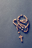 Wooden rosary beads Royalty Free Stock Photos