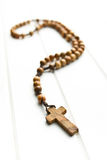Wooden rosary beads Stock Image