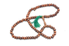 Wooden rosary Stock Photography
