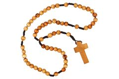 Wooden rosary Royalty Free Stock Photography