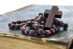 Wooden rosary Stock Photos