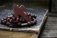 Wooden rosary Royalty Free Stock Photos