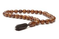 Wooden rosary Stock Photo