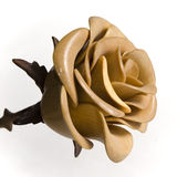 Wooden rose Stock Photo