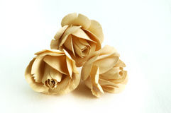 Wooden roses. With white background Royalty Free Stock Image