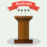 Wooden Rostrum Flat Style Vector Illustration Royalty Free Stock Photos