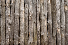 Wooden rotting old fence in the village Royalty Free Stock Photos