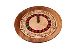 Wooden Roulette Wheel. Stock Image