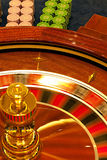 Wooden roulette wheel spinning Royalty Free Stock Images