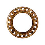 Wooden round frame. Stock Photos