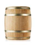 Wooden round oak barrel stock photo