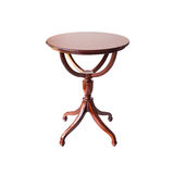 Wooden Round Table Royalty Free Stock Photography