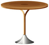 A wooden round table Royalty Free Stock Photos