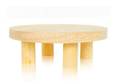 Wooden round table. Stock Photo