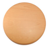 Wooden round tray Royalty Free Stock Photos