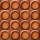 Wooden rounded abstract blocks stacked for seamless background Stock Image