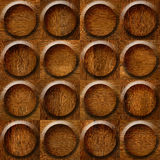 Wooden rounded abstract blocks stacked for seamless background Royalty Free Stock Image
