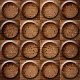 Wooden rounded abstract blocks stacked for seamless background Stock Photo