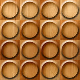 Wooden rounded abstract blocks stacked for seamless background Stock Photography