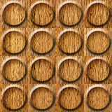 Wooden rounded abstract blocks stacked for seamless background Stock Images