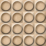 Wooden rounded abstract blocks stacked for seamless background Royalty Free Stock Photo