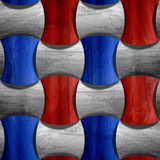 Wooden rounded blocks - seamless background - red-blue USA Colors Royalty Free Stock Photography