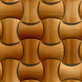 Wooden rounded blocks stacked for seamless background Royalty Free Stock Image