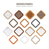 Wooden Rounded Rhomboid Frames Royalty Free Stock Image