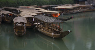 Wooden row boat Stock Photos
