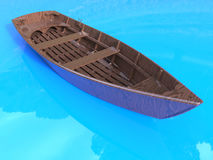 Wooden row boat Stock Images