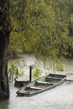 Wooden rowboat Stock Images