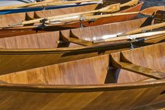 Wooden rowboats Stock Image