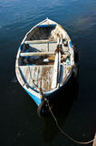 Wooden rowing boat Royalty Free Stock Images