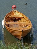 Wooden rowing boat Royalty Free Stock Photography