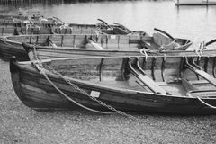 Wooden Rowing Boat Stock Photos