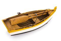 Wooden rowing boat Stock Images