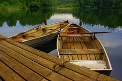 Wooden rowing boats Royalty Free Stock Photography
